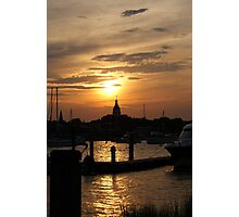 Annapolis at Sunset Photographic Print