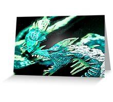 Ice Dragon 3 Greeting Card