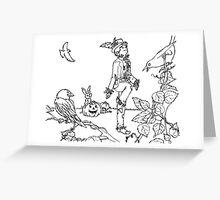 Scarecrow Dances Greeting Card