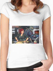 Mass Effect Cartoon - Cookie Time Women's Fitted Scoop T-Shirt