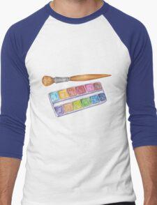 palette with brush Men's Baseball ¾ T-Shirt
