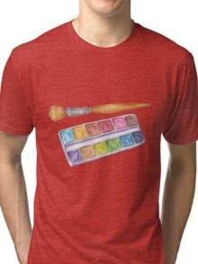 palette with brush Tri-blend T-Shirt