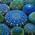 Cool Tone Mandala Stone Collection by Elspeth McLean