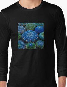 Cool Tone Mandala Stone Collection Long Sleeve T-Shirt