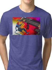 Mass Effect Cartoon - Husk Attack Tri-blend T-Shirt