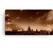 View across the Millennium Bridge, London Canvas Print