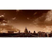 View across the Millennium Bridge, London Photographic Print