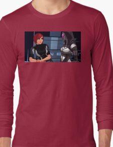 Mass Effect Cartoon - Tali Long Sleeve T-Shirt
