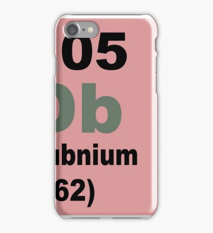 Dubnium Periodic Table of Elements iPhone Case/Skin