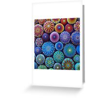 Rainbow Mandala Stone Collection Greeting Card