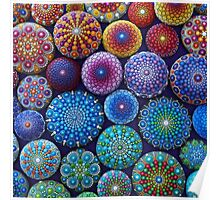 Rainbow Mandala Stone Collection Poster