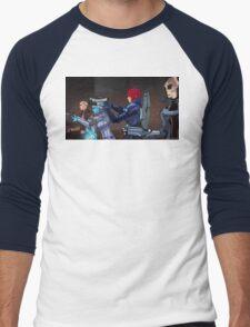 Mass Effect Cartoon - An Attack on the Cerberus Base Men's Baseball ¾ T-Shirt