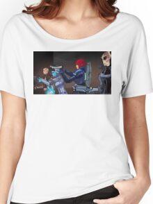 Mass Effect Cartoon - An Attack on the Cerberus Base Women's Relaxed Fit T-Shirt