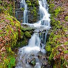 Waterfalls on a wet day in Wales by Caroline  Freeman