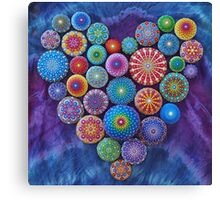 Love Rocks Mandala Stone Collection by Elspeth McLean Canvas Print
