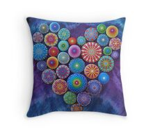 Love Rocks Mandala Stone Collection by Elspeth McLean Throw Pillow