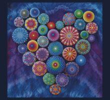 Love Rocks Mandala Stone Collection by Elspeth McLean Kids Tee