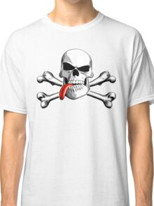Skull and Crossbones: Tongue Out Classic T-Shirt