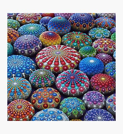 Jewel Drop Mandala Stone Collection #2 Photographic Print