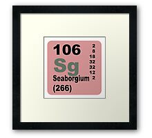 Seaborgium Periodic Table of Elements Framed Print