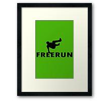 Freerun vault geek funny nerd Framed Print