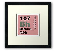 Bohrium Periodic Table of Elements Framed Print