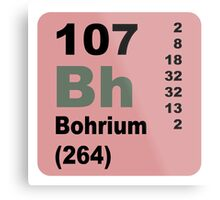 Bohrium Periodic Table of Elements Metal Print