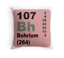 Bohrium Periodic Table of Elements Throw Pillow
