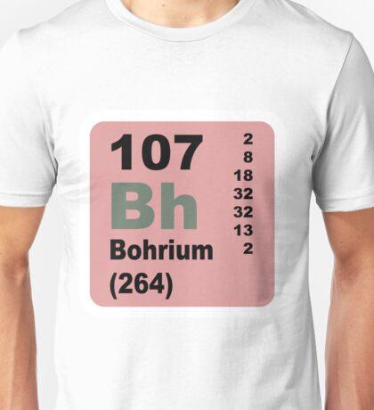 Bohrium Periodic Table of Elements Unisex T-Shirt
