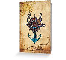Steampunk Anchor Greeting Card