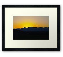 Sunrise Over Blue Ridge Mountains Framed Print