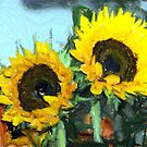 la peinture impressionniste de tournesol by RebeccaWeston