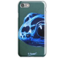 Blue poison dart frog portrait iPhone Case/Skin