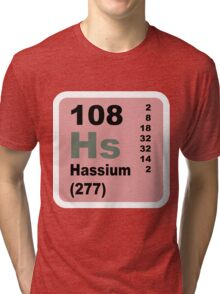Hassium Periodic Table of Elements Tri-blend T-Shirt