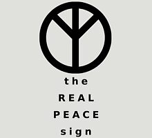 The Real Peace Sign Womens Fitted T-Shirt