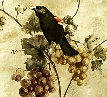 Red-winged Blackbird... by Karen  Helgesen