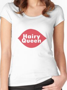 Hairy queen parody logo geek funny nerd Women's Fitted Scoop T-Shirt