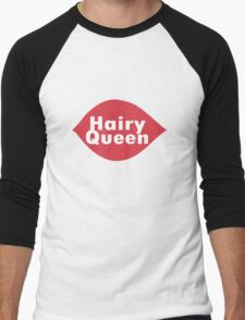 Hairy queen parody logo geek funny nerd Men's Baseball ¾ T-Shirt