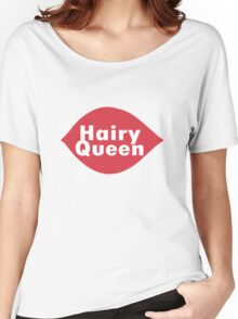 Hairy queen parody logo geek funny nerd Women's Relaxed Fit T-Shirt