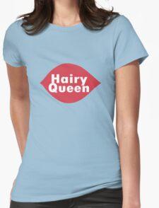 Hairy queen parody logo geek funny nerd Womens Fitted T-Shirt