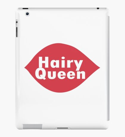 Hairy queen parody logo geek funny nerd iPad Case/Skin