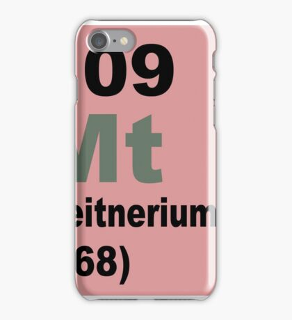 Meitnerium Periodic Table of Elements iPhone Case/Skin