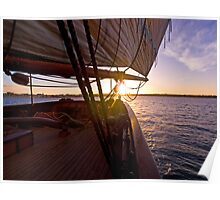We set sail at sunset Poster