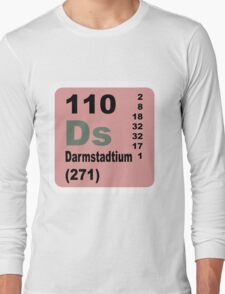 Darmstadtium Periodic Table of Elements Long Sleeve T-Shirt