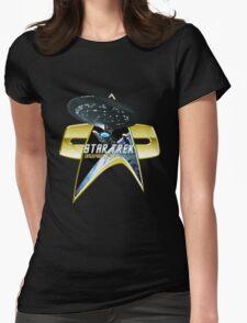 StarTrek Enterprise 1701 D Com badge 2 Womens Fitted T-Shirt