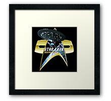StarTrek Enterprise 1701 D Com badge 2 Framed Print