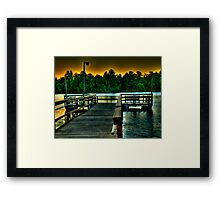 Fishing Dock at Daylight Framed Print
