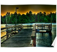 Fishing Dock at Daylight Poster