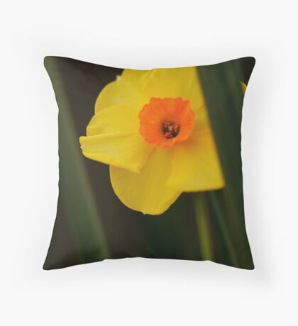 A Sunny Yellow Throw Pillow