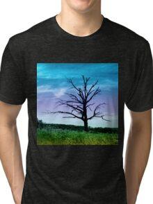 Dead Tree in Meadow Colorized Tri-blend T-Shirt